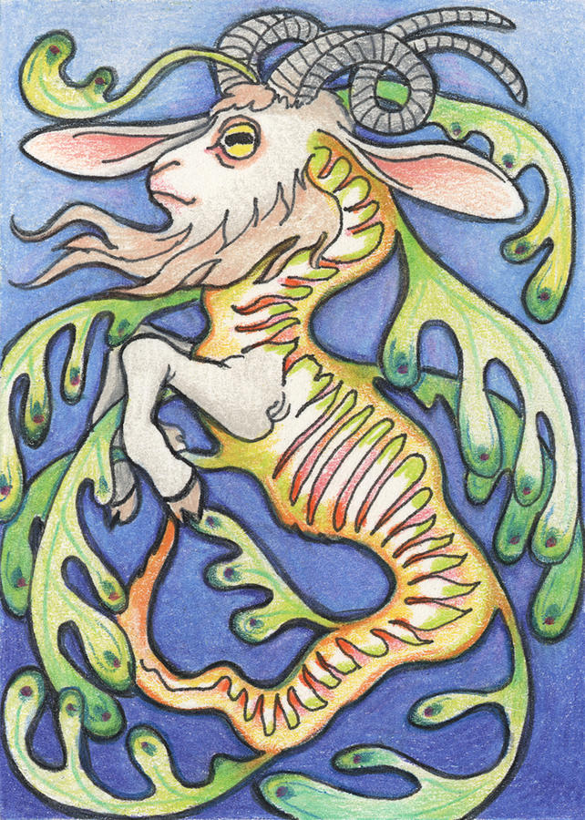 Atc Drawing - Billy Dragon by Amy S Turner