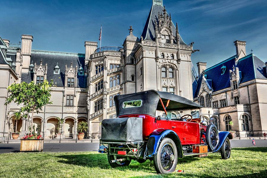 Biltmore and antique car photograph by carol r montoya for Is biltmore estate haunted