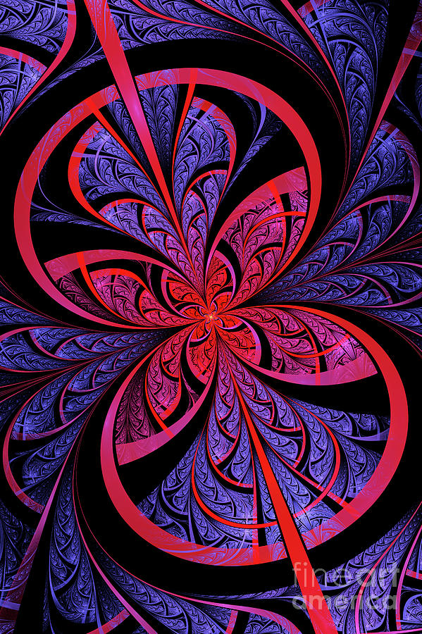 Flame Fractal Digital Art - Bipolar by John Edwards