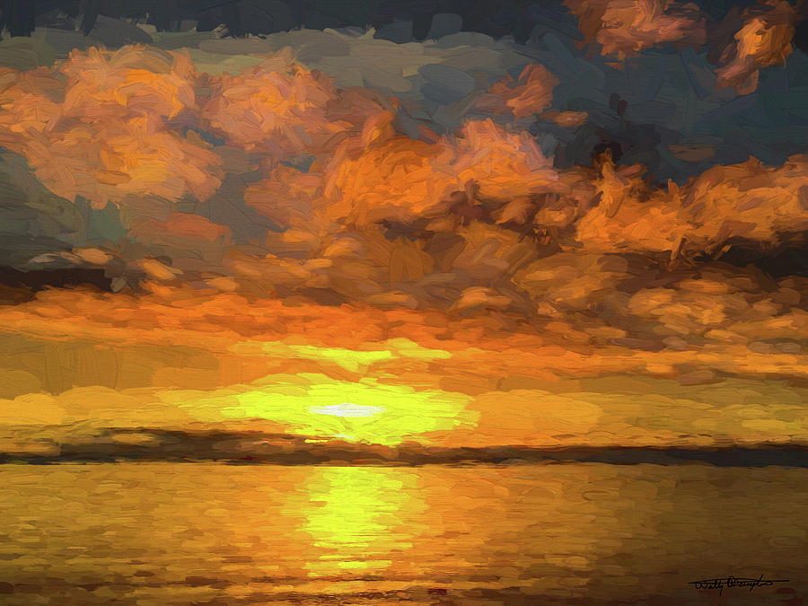 Birch Bay Sunset #1 Digital Art