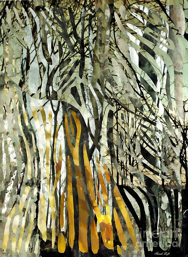 Birch Trees Mixed Media - Birch Forest by Sarah Loft