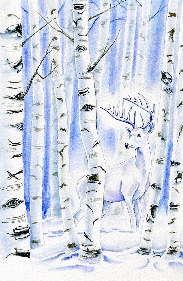 Birch Tree Painting - Birch Spirit by Antony Galbraith
