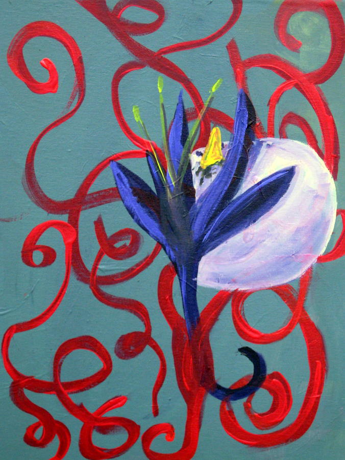 Bird Painting - Bird Escape by Rebecca Merola