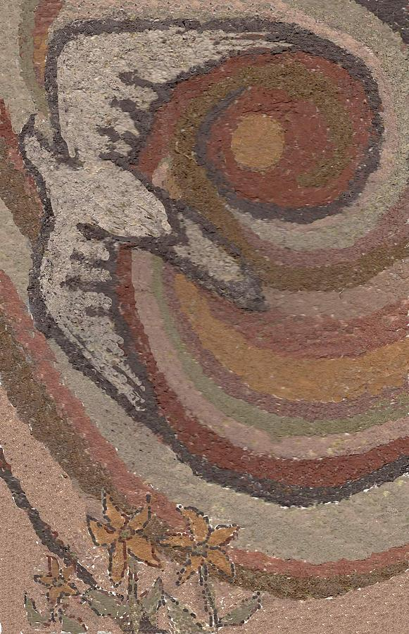 Sandpainting Drawing - Bird Of Desert Sand by Dawn Senior-Trask