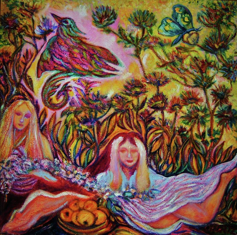 Bird Of Paradise II -art Deco Painting