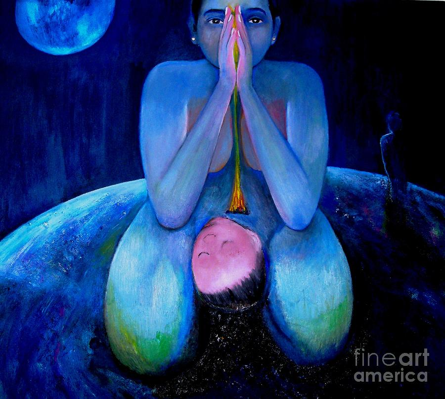 Birth Of A Child Painting - Birth Of A Child October 13 1978 by Patricia Velasquez de Mera