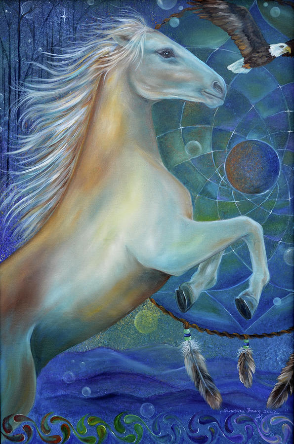 Horse Painting - Birth Of Freedom by Sundara Fawn