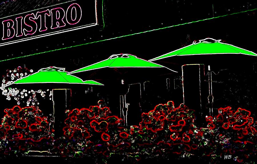 Abstract Digital Art - Bistro by Will Borden