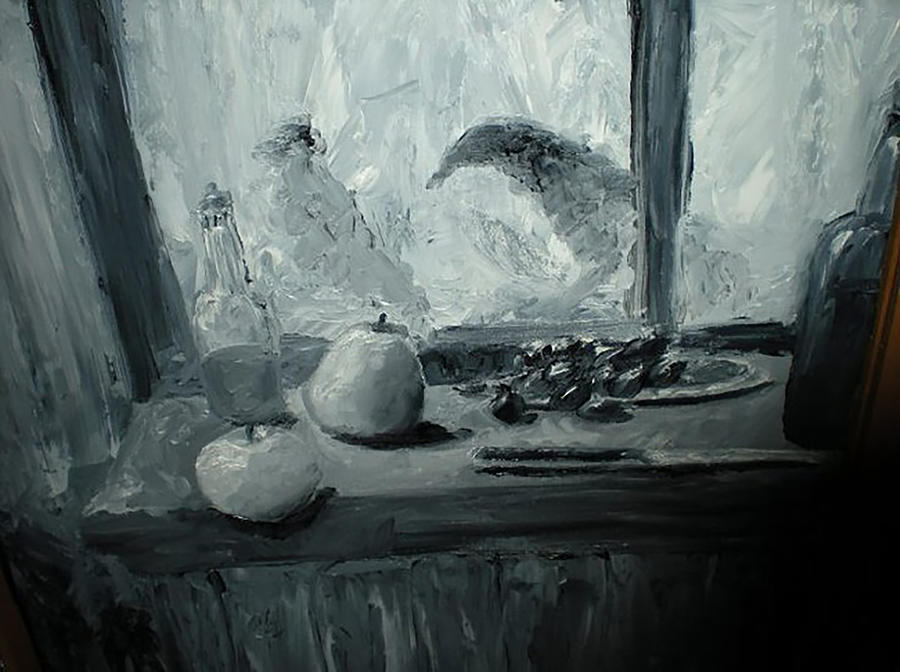 Black And White Oil Painting Dale Cheney