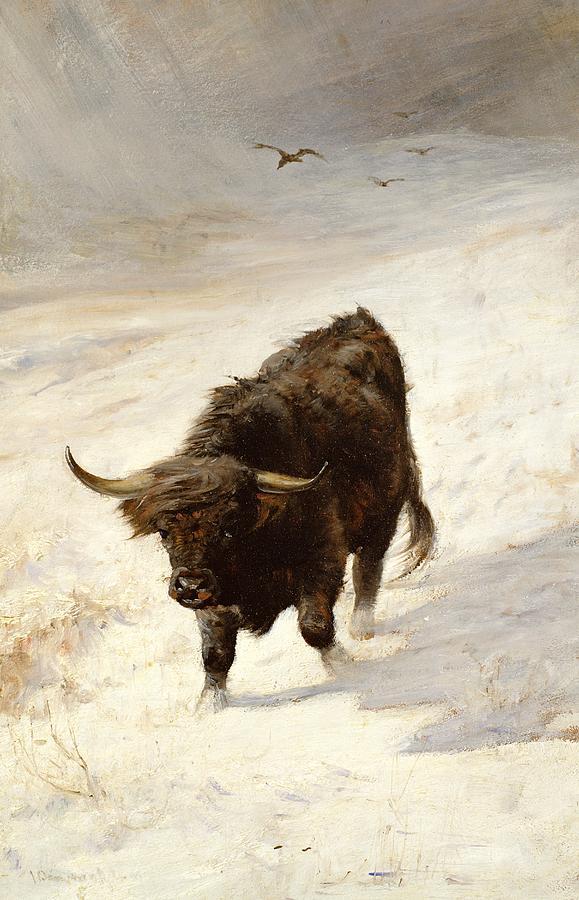 Highland Painting - Black Beast Wanderer  by Joseph Denovan Adam