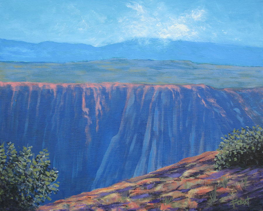 Art Painting - Black Canyon Of The Gunnison by Gene Foust