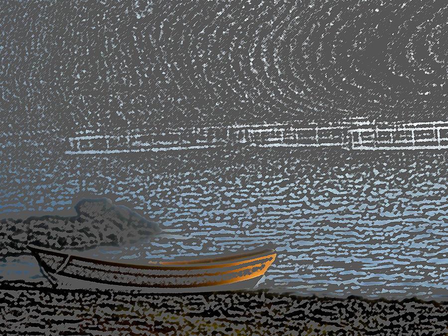 Leduc Digital Art - Black Harbour Nb by Roger Charlebois