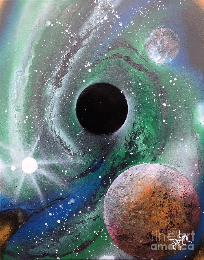 Black Hole Painting by Tyler Haddox