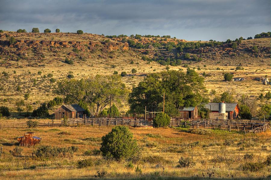 Black Mesa Photograph - Black Mesa Ranch by Charles Warren
