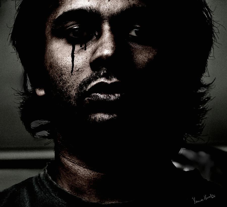 Adult Photograph - Black Tears by Venura Herath