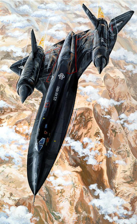 Sr-71 Painting - Blackbird by Charles Taylor