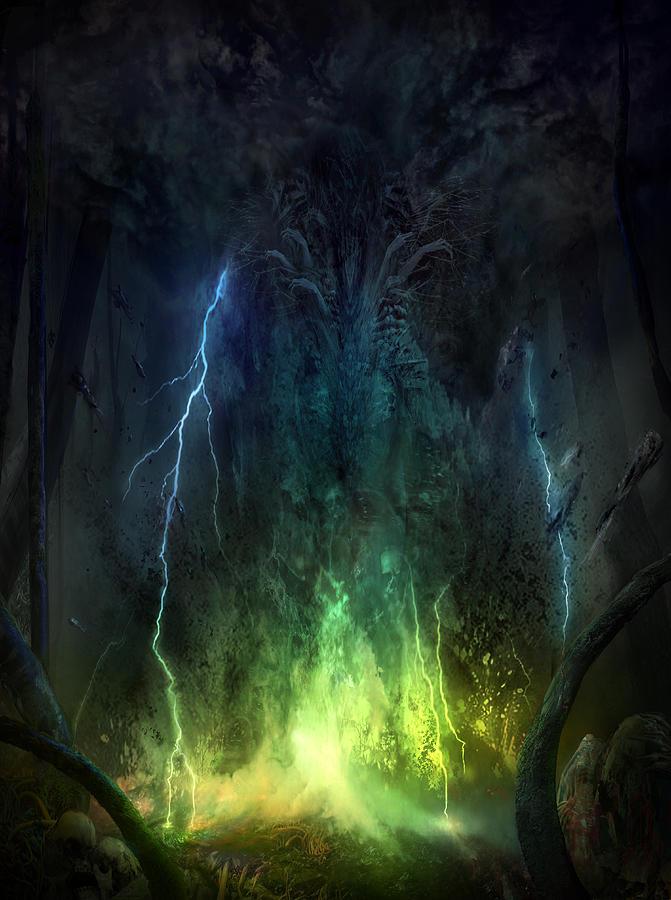 Philip Straub Mixed Media - Bleak Swamp by Philip Straub