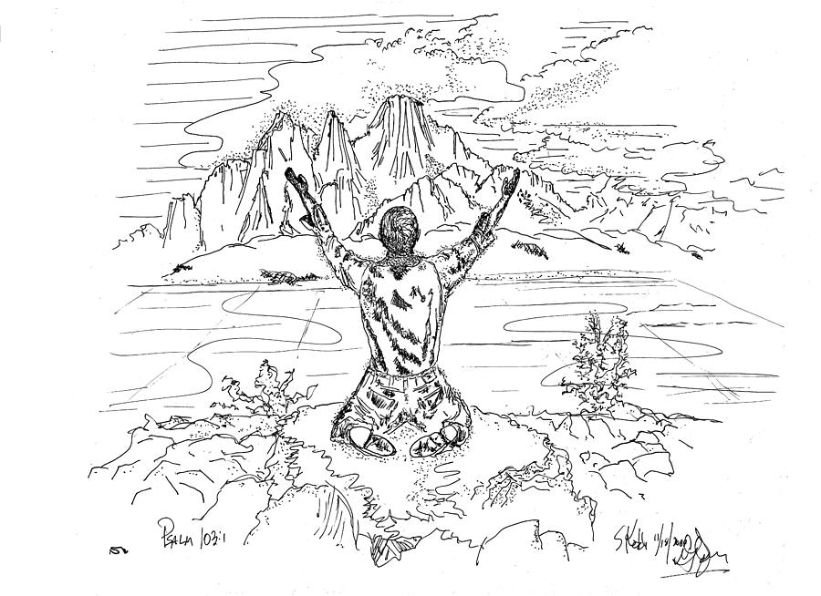 Christian Drawing - Bless The Lord by Glenn McCarthy Art and Photography