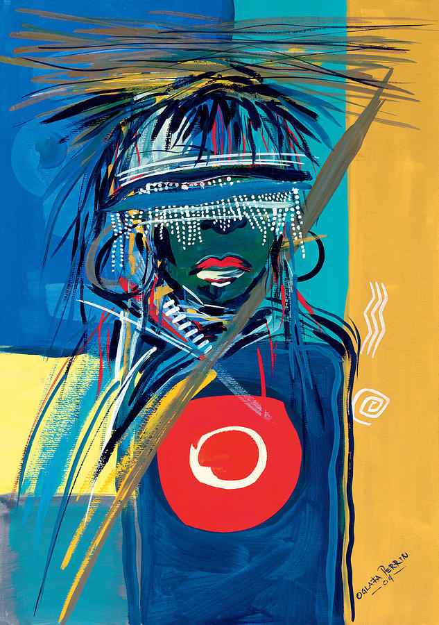 African Painting - Blind To Culture by Oglafa Ebitari Perrin