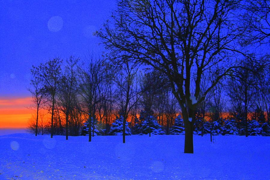 Landscape Photograph - Blizzard Blues 2 by Julie Lueders