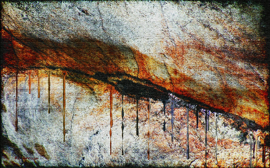 Rock Painting - Blood From A Stone by RC deWinter