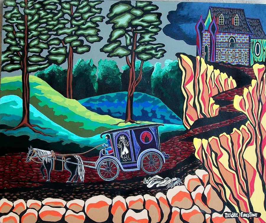 Blood Painting - Bloodthirsty Rider by Deidre Firestone