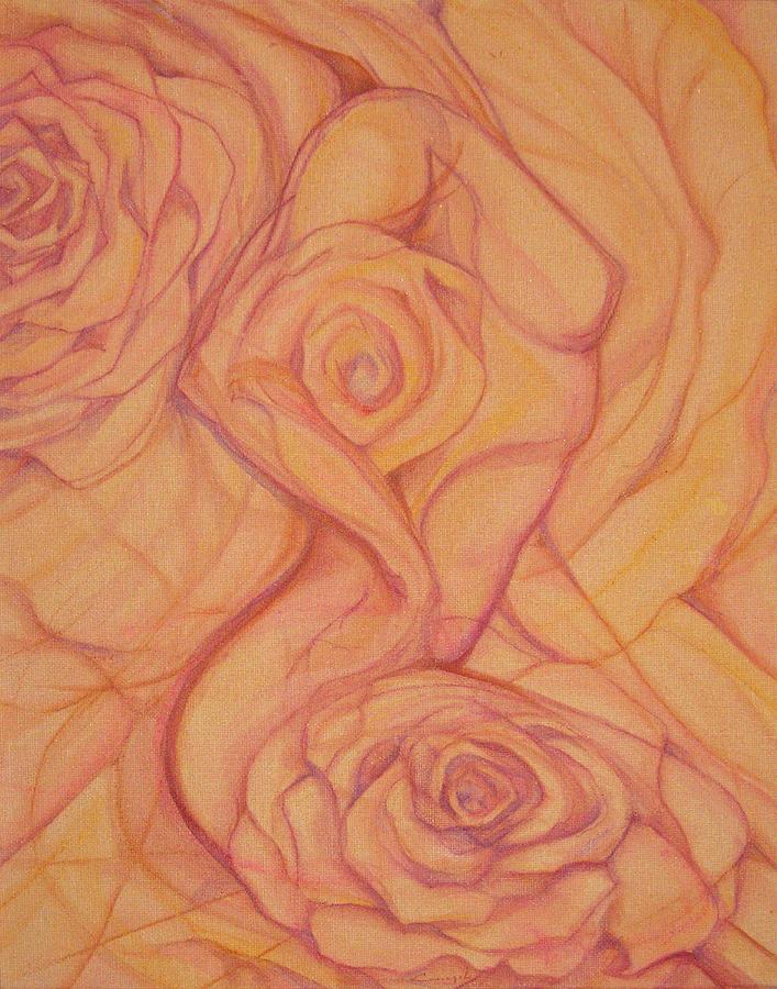 Female Painting - Blossom by Caroline Czelatko