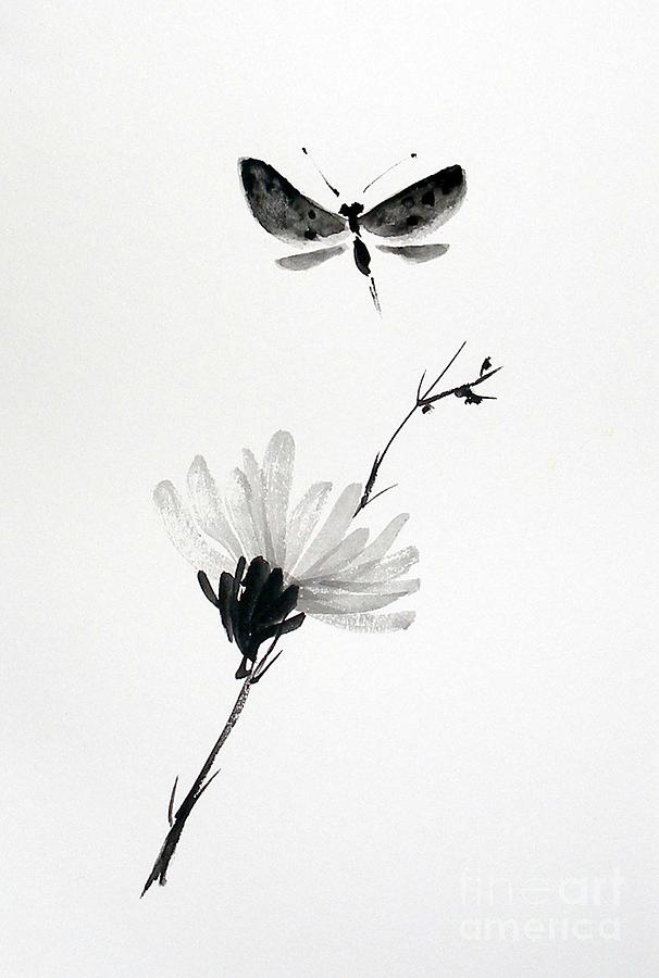 Butterfly Painting - Blossomfly by Sibby S