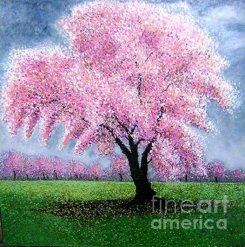 Blossoms Art Painting - Blossoming Into Spring by Marie-Line Vasseur
