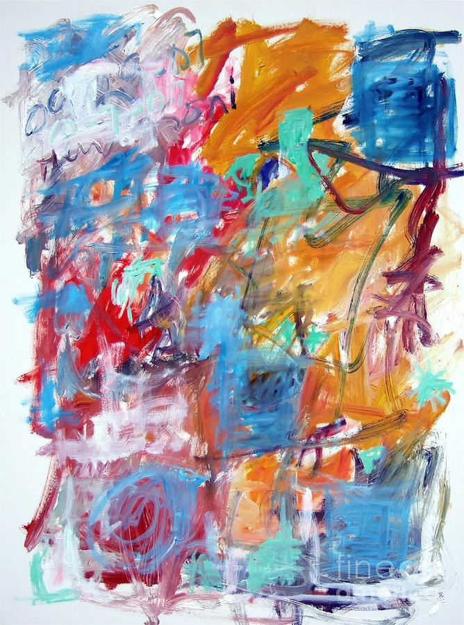 Abstract Painting - Blue And Orange Abstract by Michael Henderson