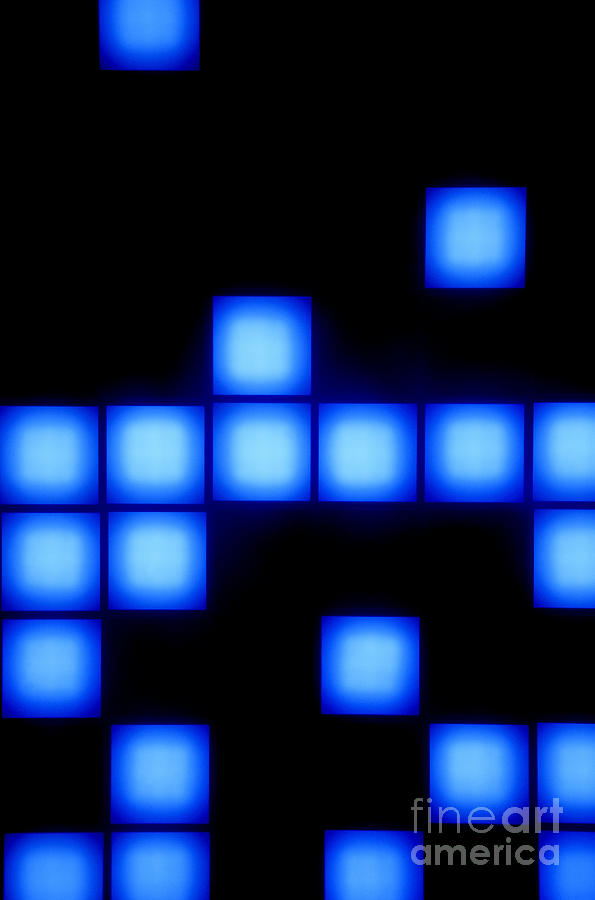 Abstract Photograph - Blue Cubes by Brandon Tabiolo - Printscapes