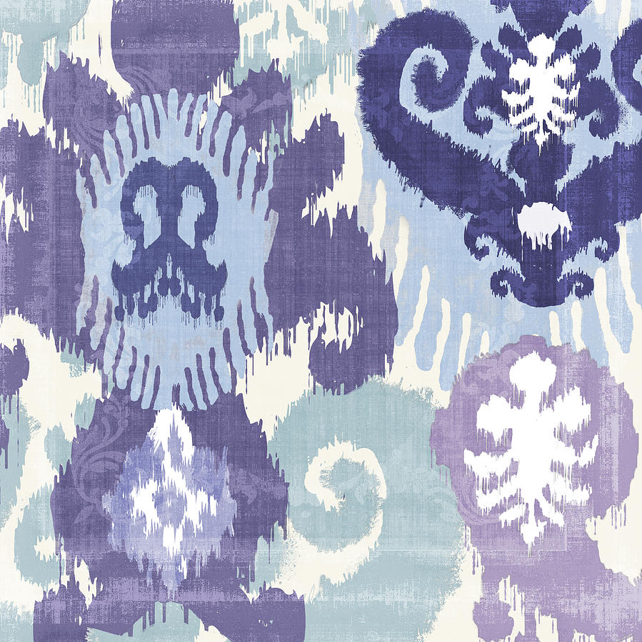 Ikat Painting - Blue Curry I by Mindy Sommers