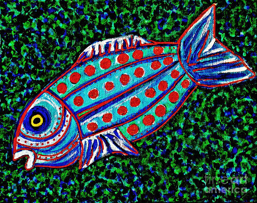 Blue Fish Painting - Blue Fish by Sarah Loft