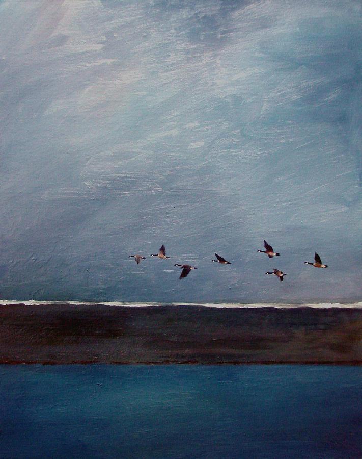 Abstract Painting - Blue Flight by David  Maynard