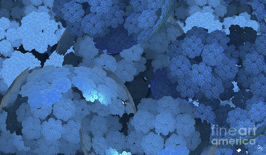 Blue Fungi Digital Art