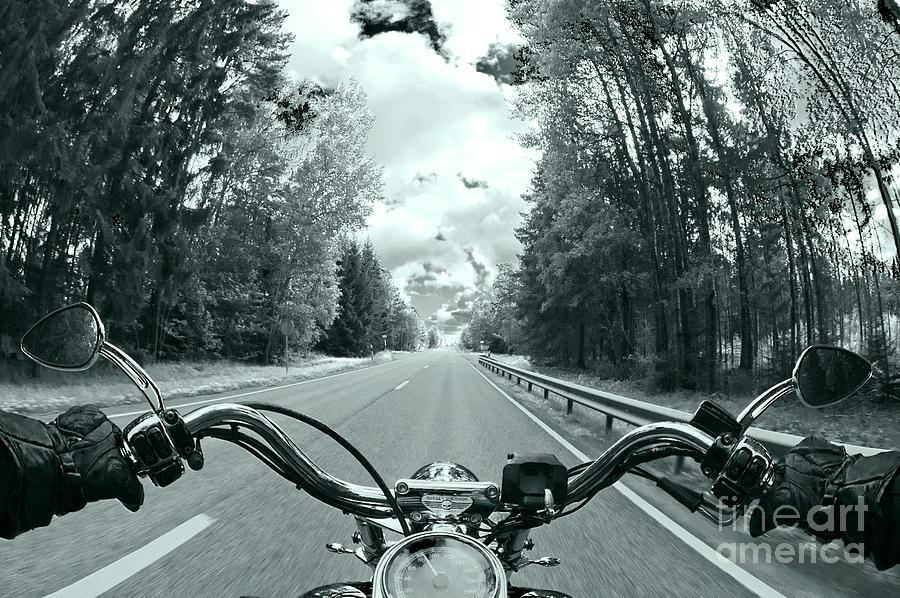 Blue Harley Photograph