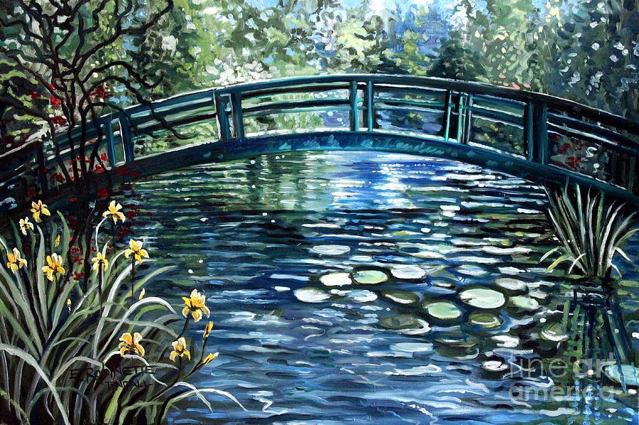 Impressionistic Painting - Blue Lagoon by Elizabeth Robinette Tyndall