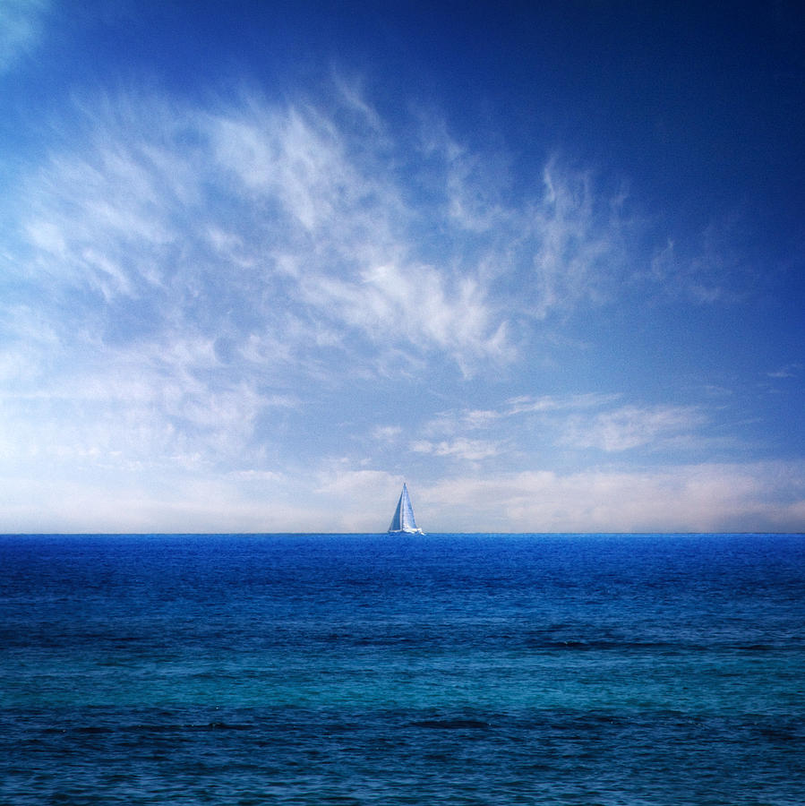 Blue Mediterranean Photograph by Stelio Photography