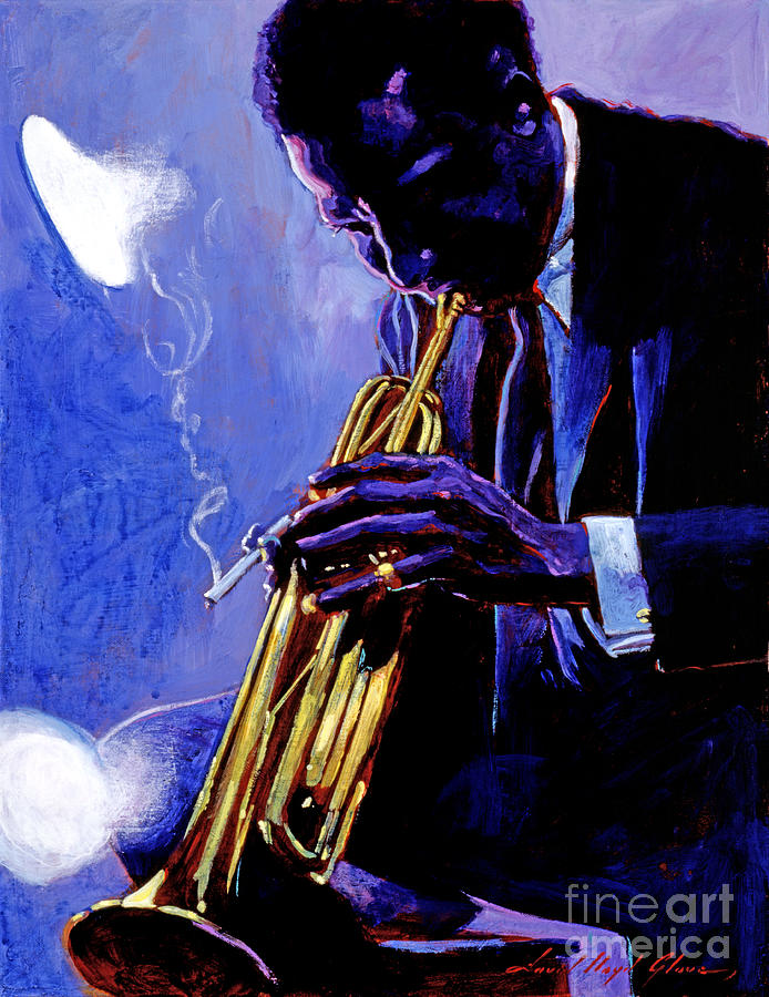 Miles Davis Painting - Blue Miles by David Lloyd Glover