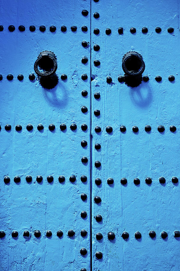 Vertical Photograph - Blue Moroccan Door by Kelly Cheng Travel Photography