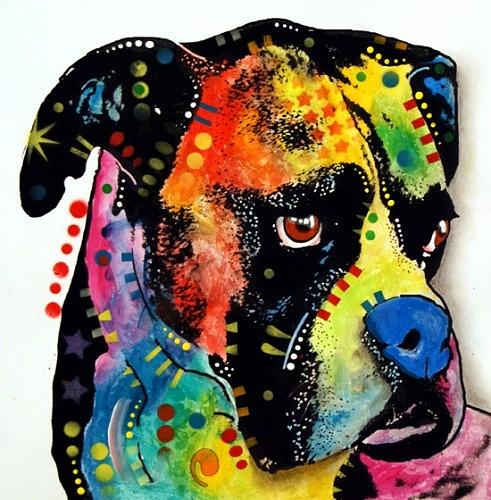 Blue Nose Boxer  Ebay Painting