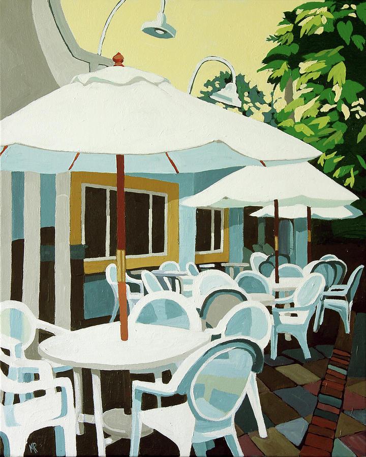 Blue Patio Painting