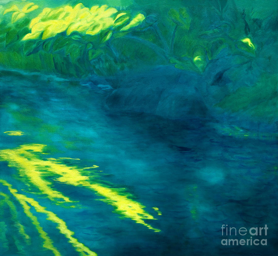 Abstract Painting - Blue Pool Off Ulaino Road by Fay Biegun - Printscapes
