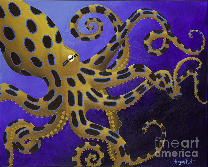 Blue Ringed Octopus Painting by Meagan Puett