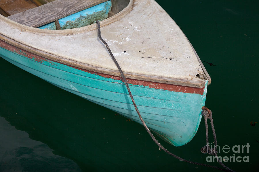 Beals Island Photograph - Blue Rowboat 1 by Susan Cole Kelly
