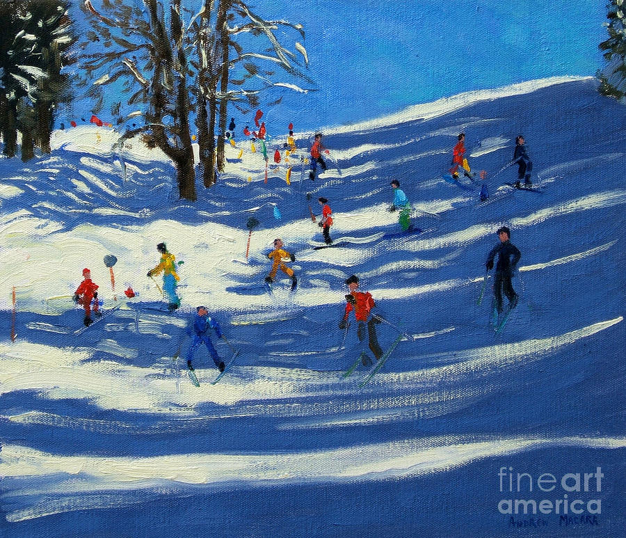 Hill Painting - Blue Shadows by Andrew Macara