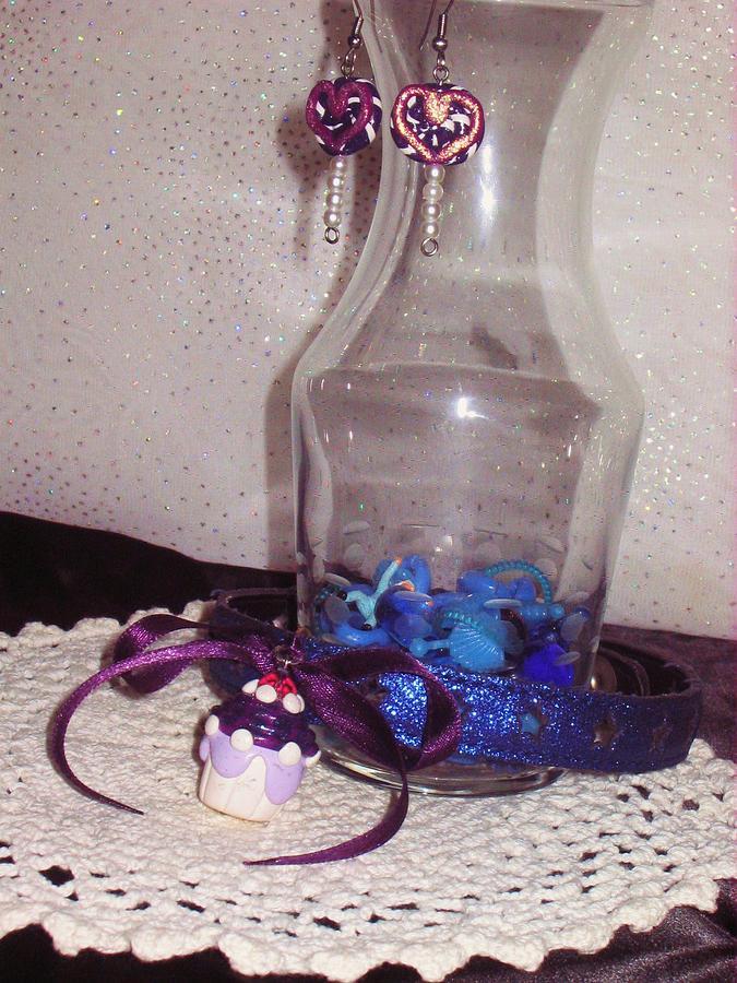 Star Jewelry - Blue Star Cupcake Collar Jewelry Set by Jamie Pool