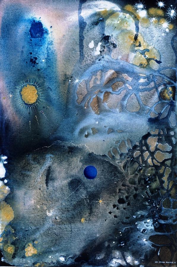 Spiritual Painting - Blue Star Rising by Lee Pantas