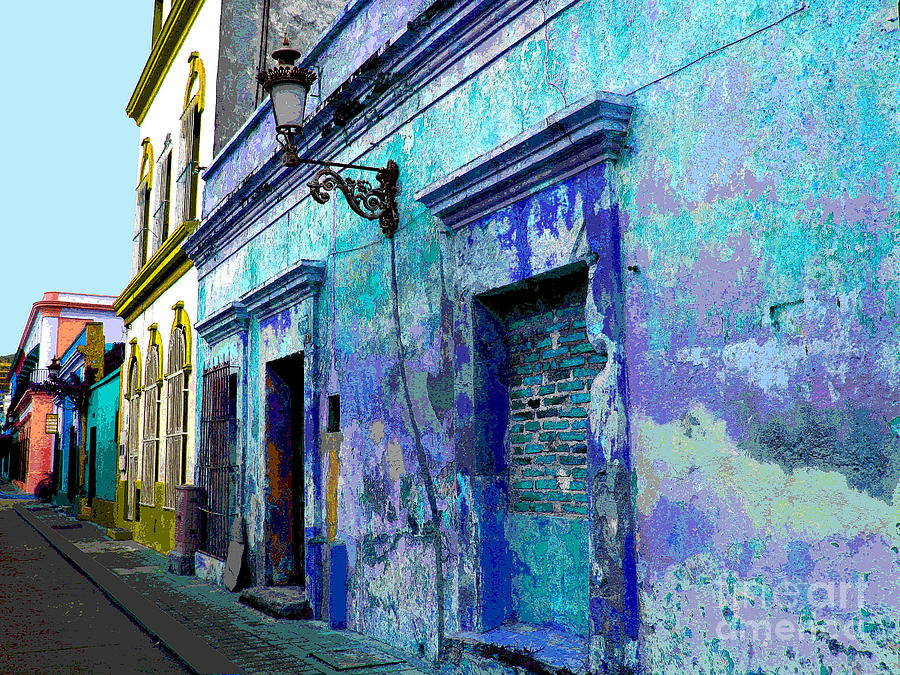 Blue Wall By Michael Fitzpatrick Photograph