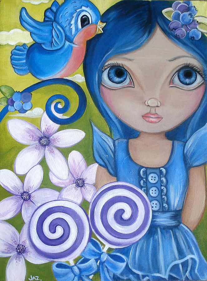 Blue Painting - Blueberry by Jaz Higgins